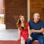 Ashley & Brian's Casual Alexandria Virginia Engagement Pictures