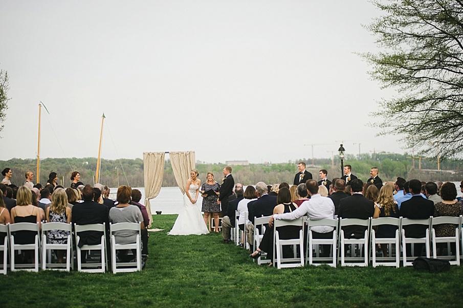 Jennie Jeff S Modern Metallic Northern Virginia Wedding At
