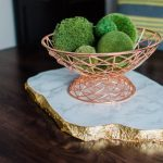 DIY Tutorial: How to Make a Gilded Edge, Faux Marble Platter