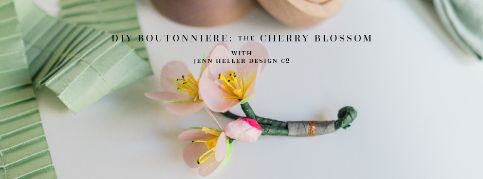 Diy paper flower tutorial paper cherry blossom boutonnieres diy paper flower tutorial paper cherry blossom boutonnieres mightylinksfo