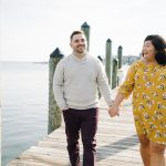 Kristi & Lee's Fashionable, Chic Engagement Pictures in Annapolis, Maryland