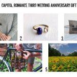 Third Wedding Anniversary Gift Ideas: Leather, Sunflower & Moonstone