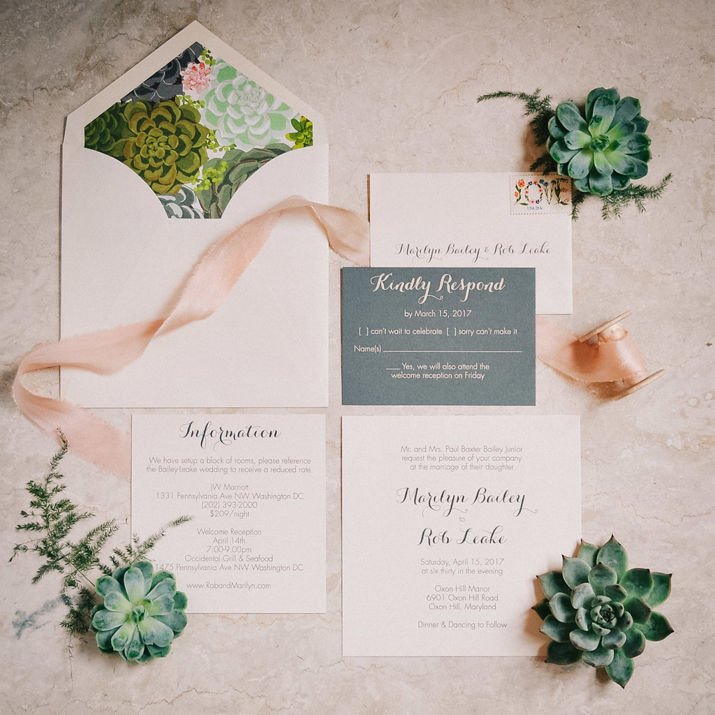 Marilyn & Rob\'s Intimate, Modern Succulent & Lace Wedding at Oxon ...