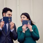Xuni & Habib's Romantic, Travel Themed Engagement Pictures at Leesburg Airport