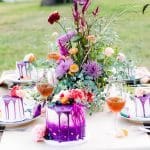 Let Them Eat Cake: Bright Purple, Whimsical Boho Inspired Wedding Design
