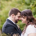 Colleen & John's Modern, Fall Backyard Wedding in Virginia