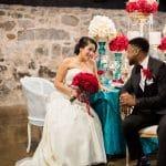 Red, Teal, & Gold Modern Wedding Details, Design, & Inspiration