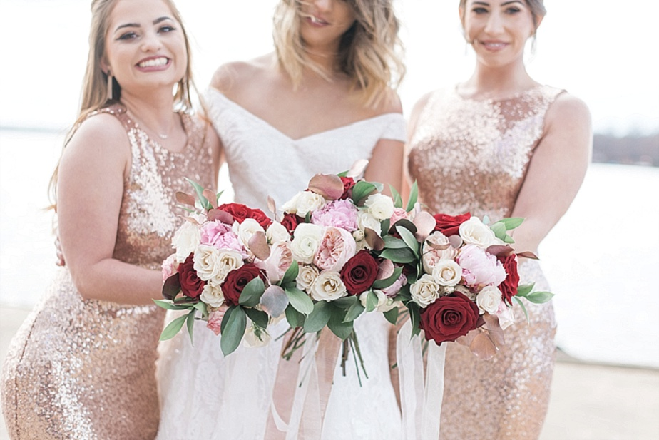 Valentine S Day Red Glittery Gold Inspired Wedding Styled Shoot